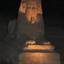 Luxor sphinx at night