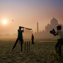 Taj Mahal at Sunrise<br />The Taj Mahal, one of the most enduring symbols of India, is popular with tourists, drawing more than two million each year. Cricket is the most popular sport in India.