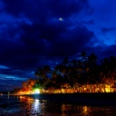 boracay beach @ night